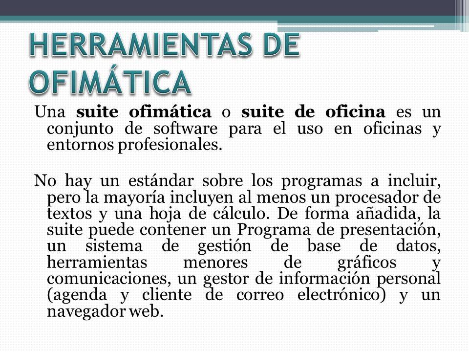 HERRAMIENTAS DE OFIMÁTICA