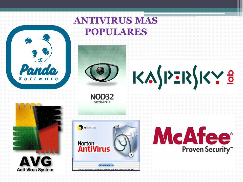 ANTIVIRUS MAS POPULARES