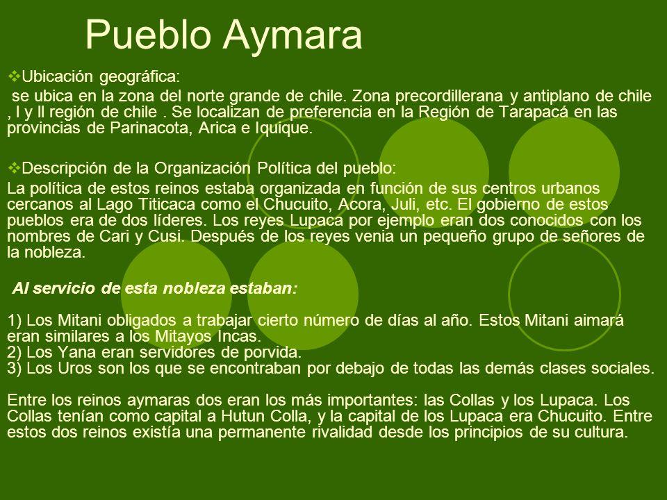 Pueblo Aymara Ubicación geográfica: