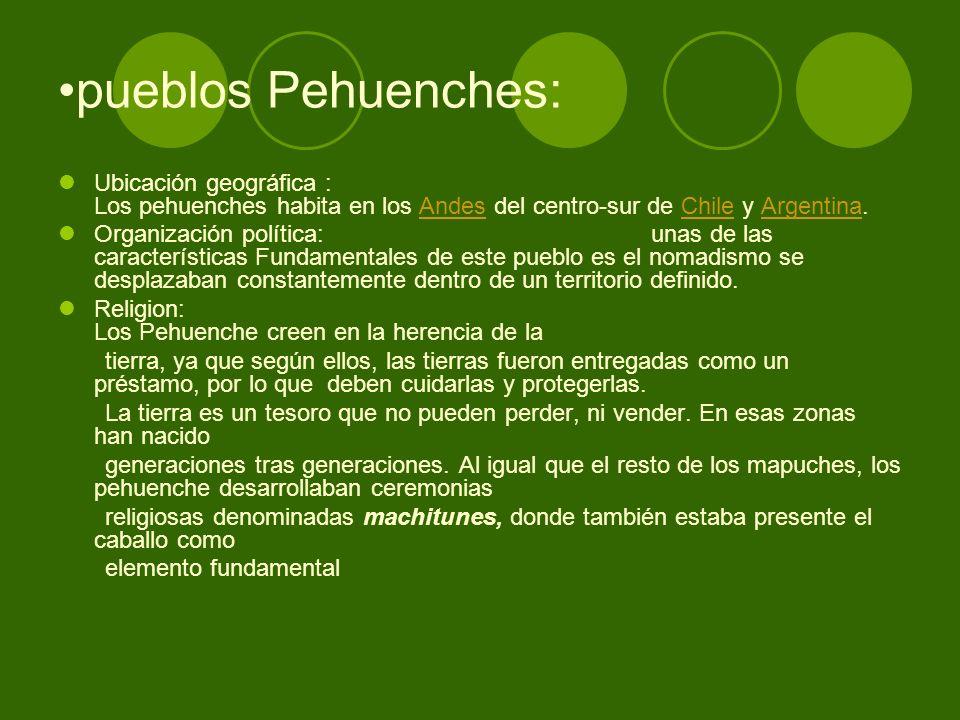 pueblos Pehuenches: