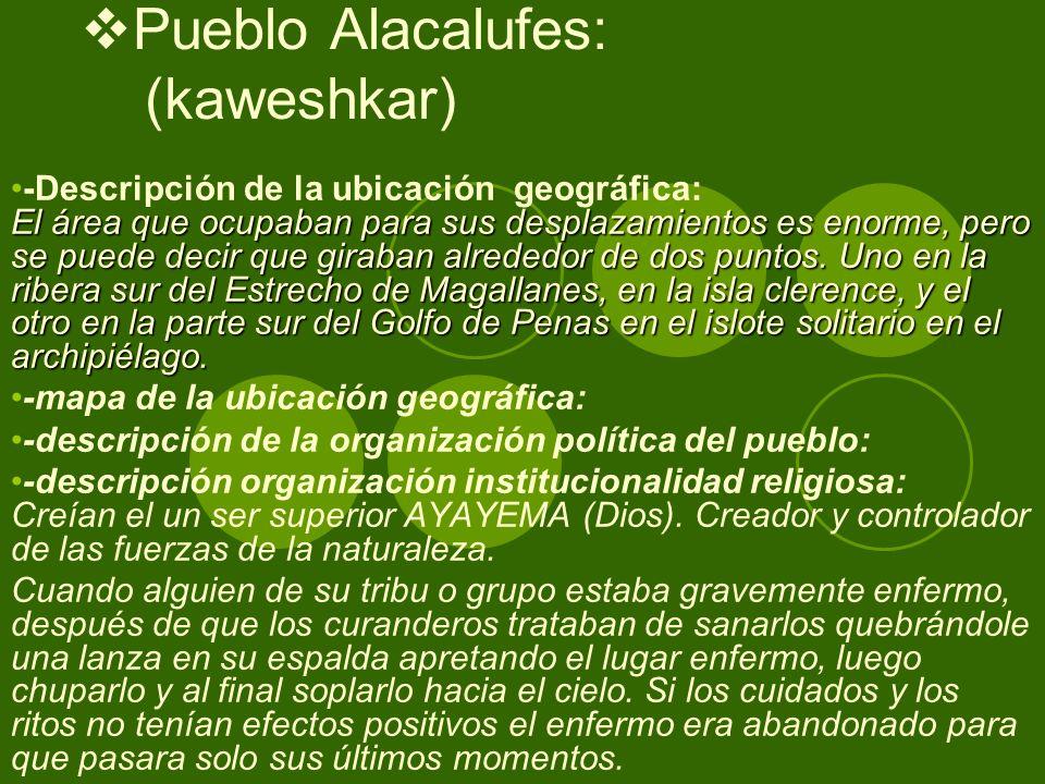 Pueblo Alacalufes: (kaweshkar)