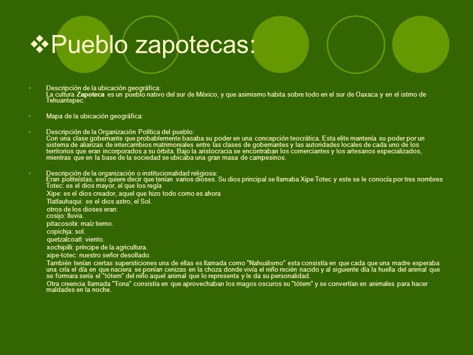Pueblo zapotecas:
