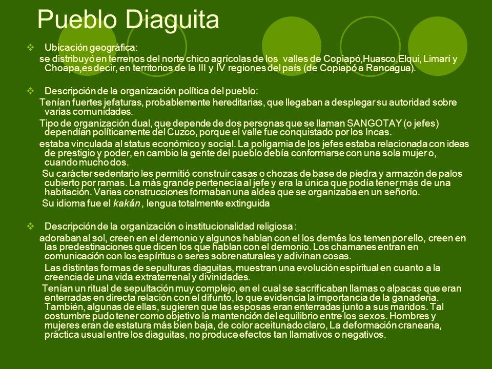 Pueblo Diaguita Ubicación geográfica: