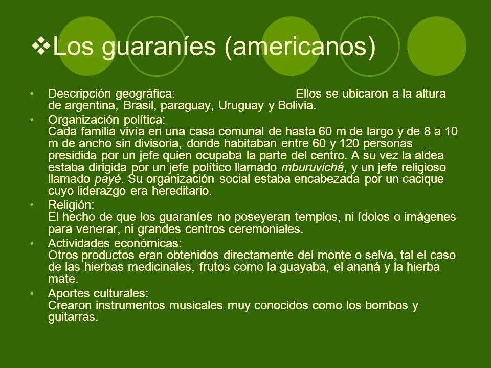 Los guaraníes (americanos)