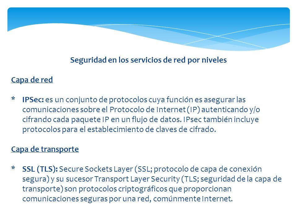 Seguridad en los servicios de red por niveles