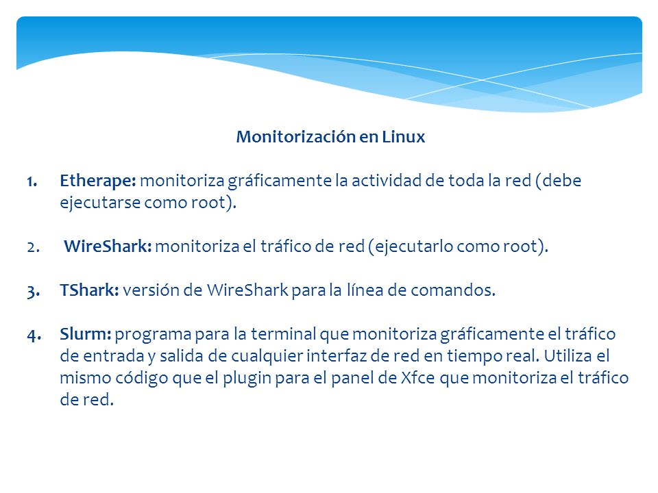Monitorización en Linux