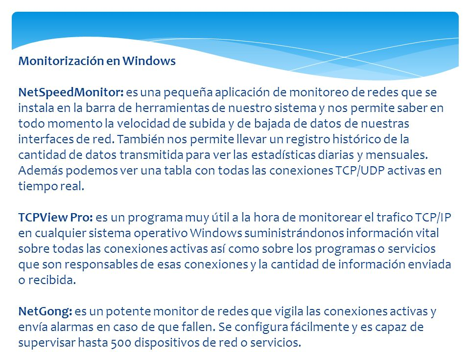 Monitorización en Windows