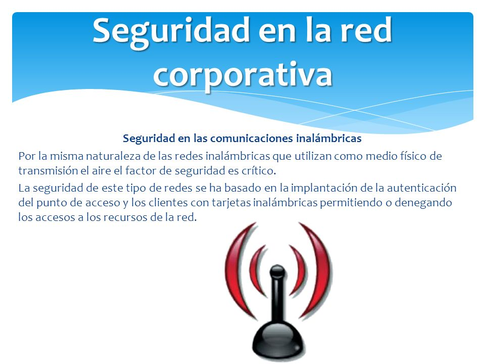 Seguridad en la red corporativa