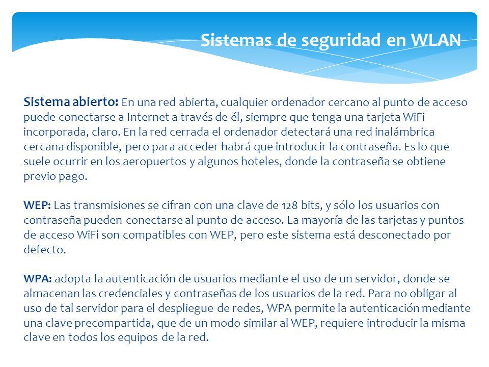 Sistemas de seguridad en WLAN