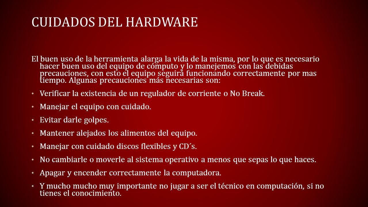 Cuidados del Hardware
