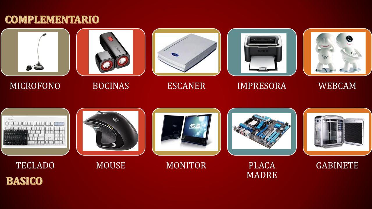 COMPLEMENTARIO BASICO MICROFONO BOCINAS ESCANER IMPRESORA WEBCAM