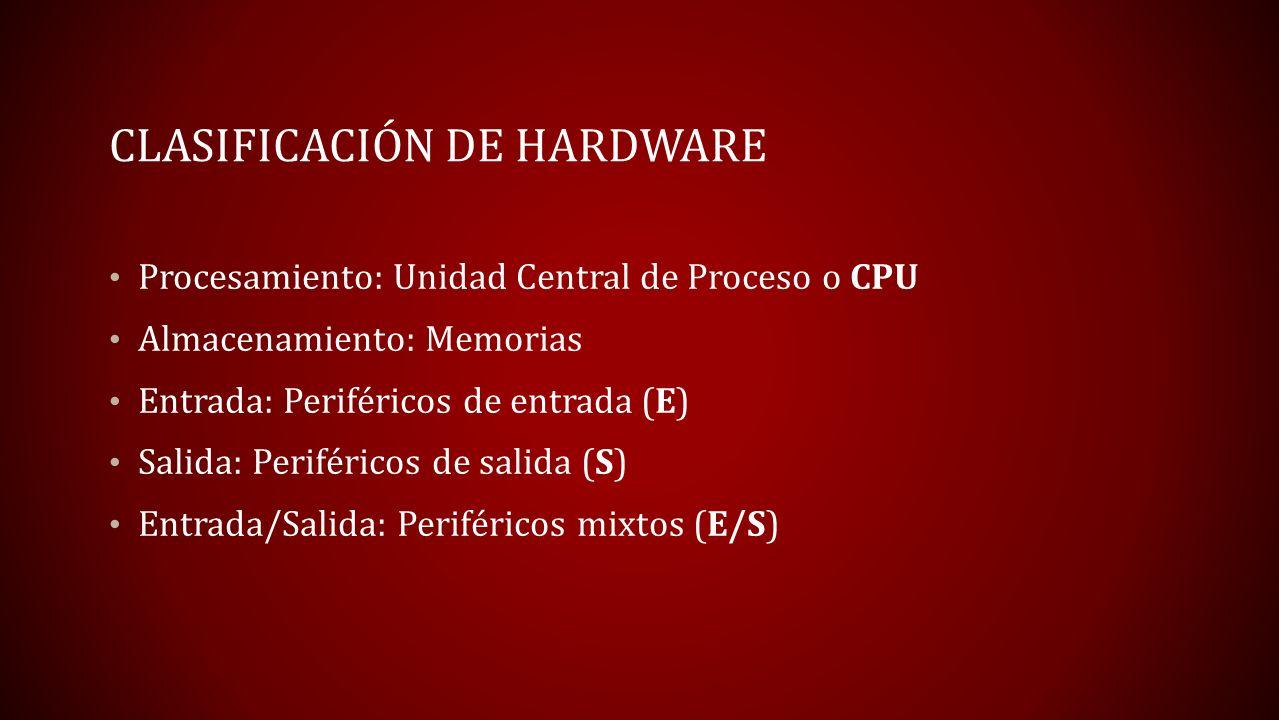 Clasificación de hardware