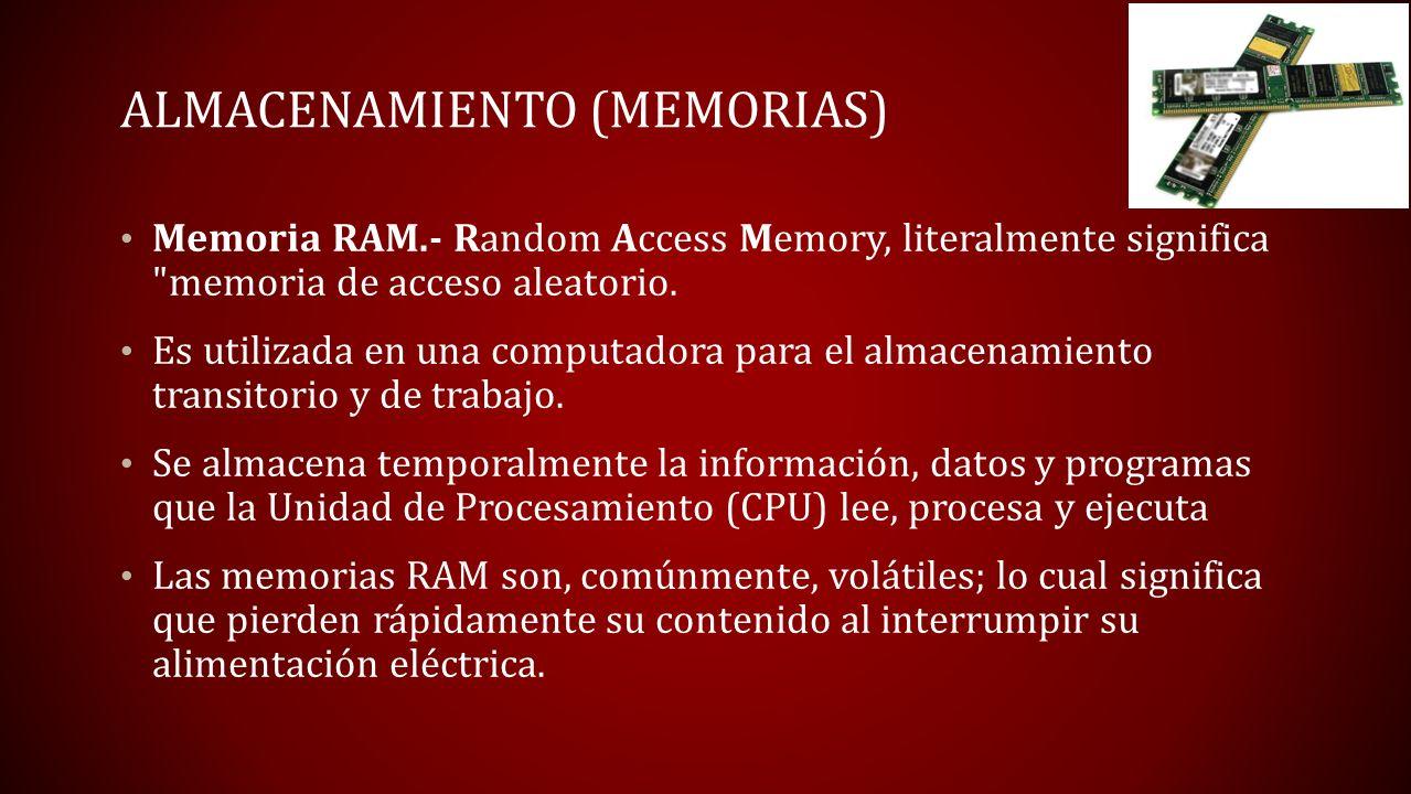 Almacenamiento (memorias)