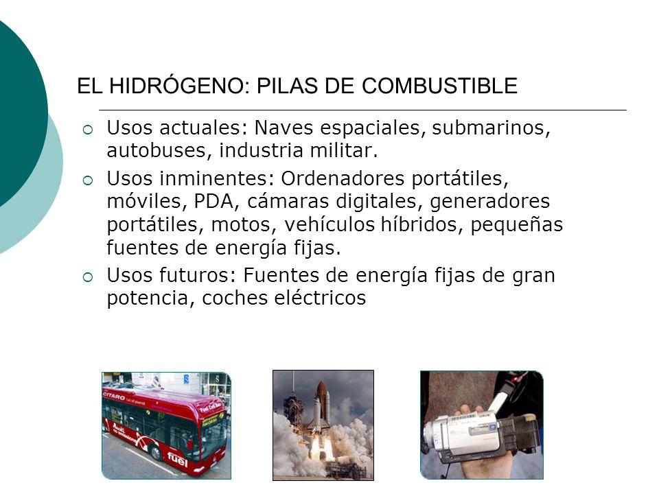 EL HIDRÓGENO: PILAS DE COMBUSTIBLE