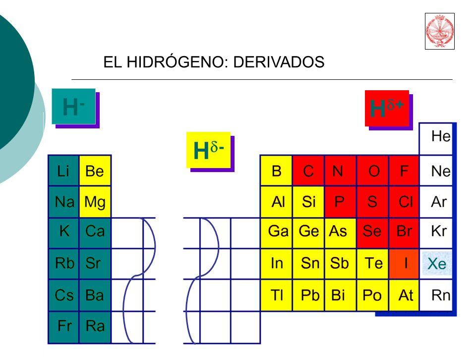 H- Hd+ Hd- EL HIDRÓGENO: DERIVADOS Xe