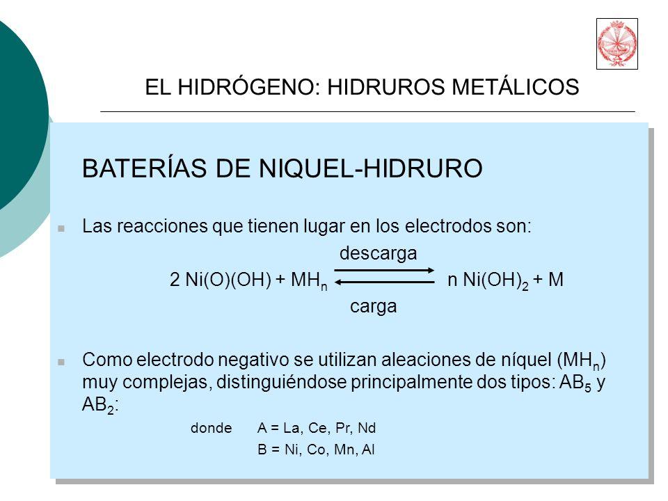 BATERÍAS DE NIQUEL-HIDRURO