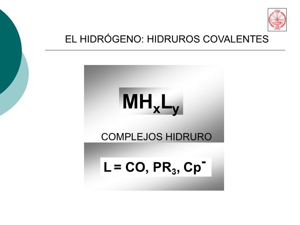 MHxLy L = CO, PR3, Cp- EL HIDRÓGENO: HIDRUROS COVALENTES