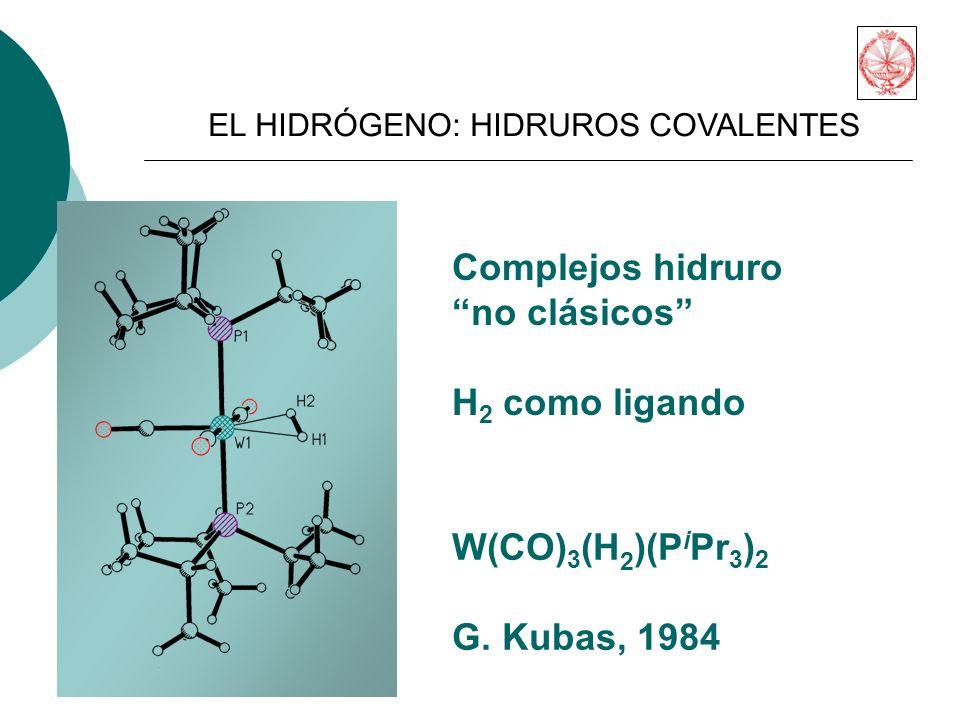 Complejos hidruro no clásicos H2 como ligando W(CO)3(H2)(PiPr3)2