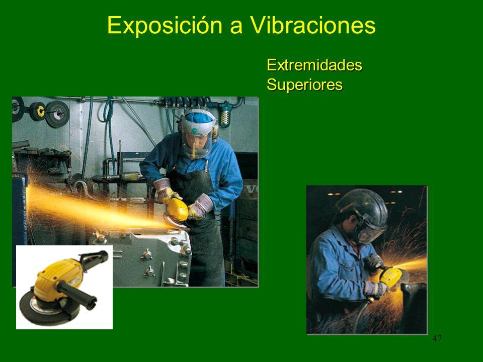 ¿Qué clase de herramientas y equipos pueden causar lesiones por vibraciones