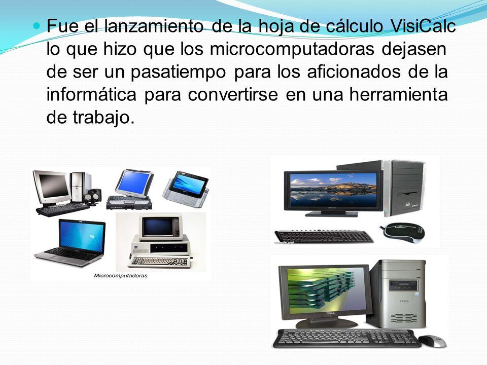 Fue el lanzamiento de la hoja de cálculo VisiCalc lo que hizo que los microcomputadoras dejasen de ser un pasatiempo para los aficionados de la informática para convertirse en una herramienta de trabajo.