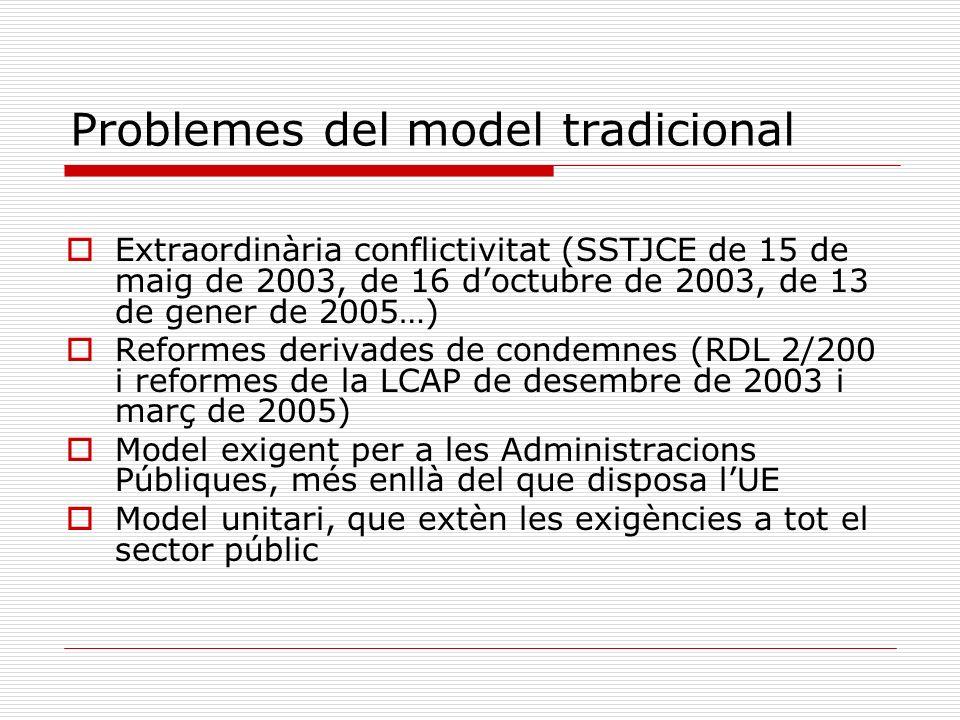 Problemes del model tradicional