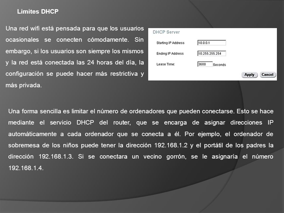 Limites DHCP