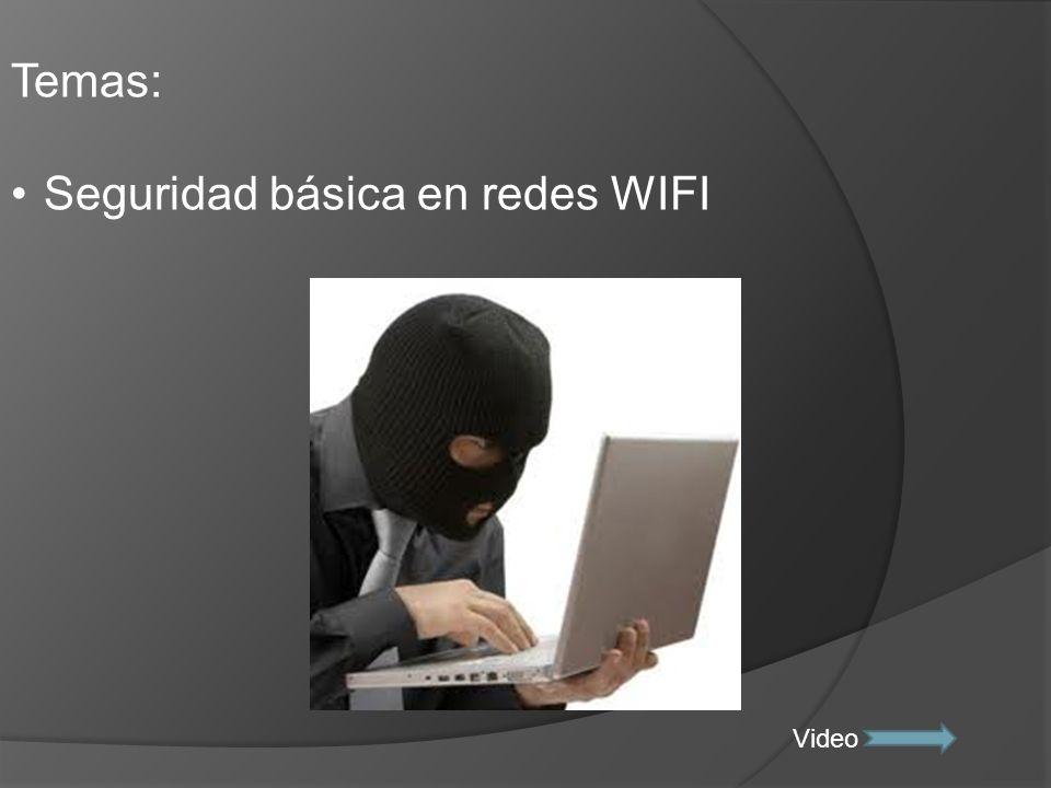 Seguridad básica en redes WIFI