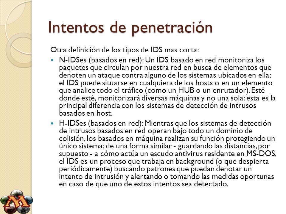 Intentos de penetración