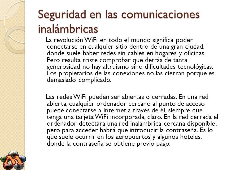 Seguridad en las comunicaciones inalámbricas