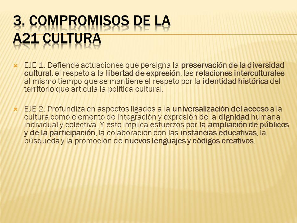 3. COMPROMISOS DE LA A21 CULTURA