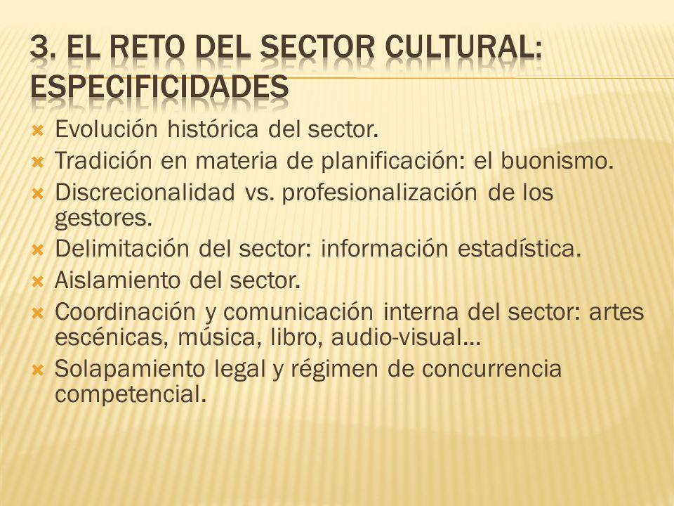 3. El reto del sector cultural: especificidades