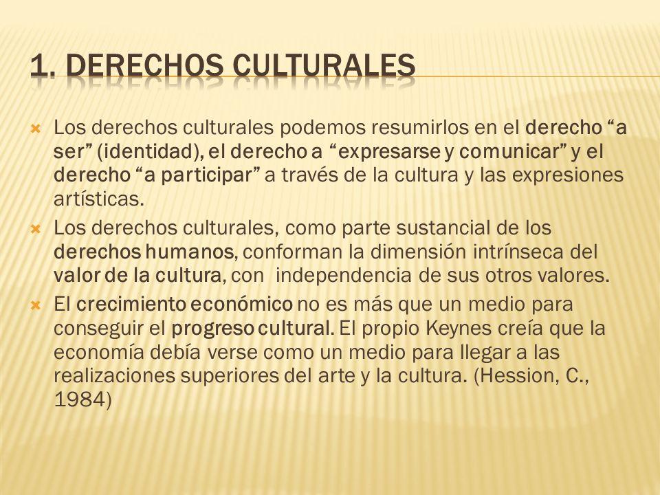 1. Derechos culturales