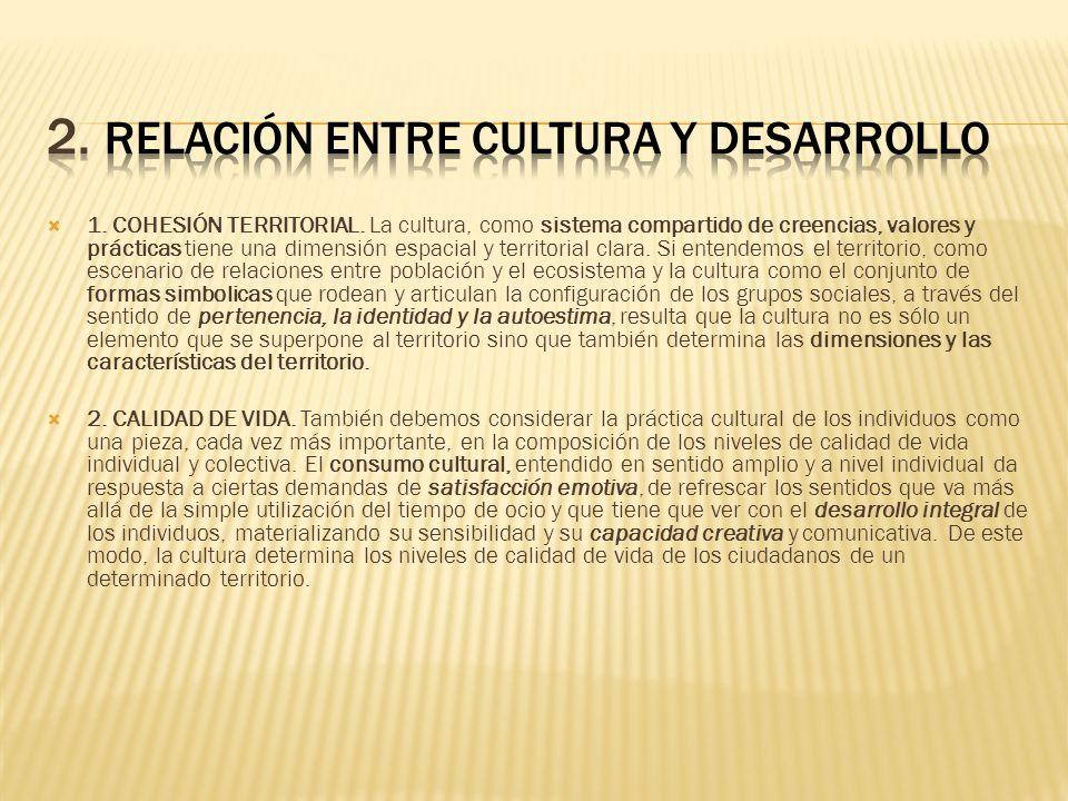 2. RELACIÓN ENTRE CULTURA Y DESARROLLO
