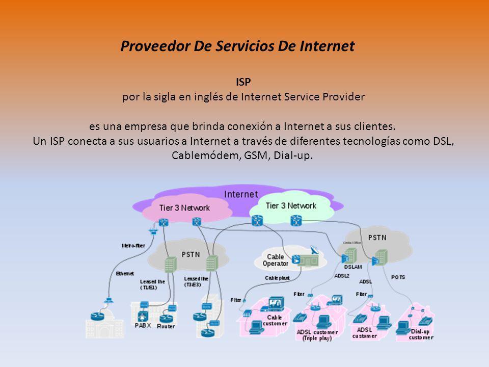 Proveedor De Servicios De Internet