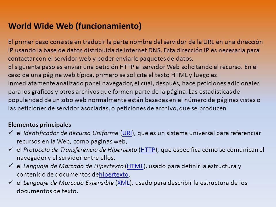World Wide Web (funcionamiento)