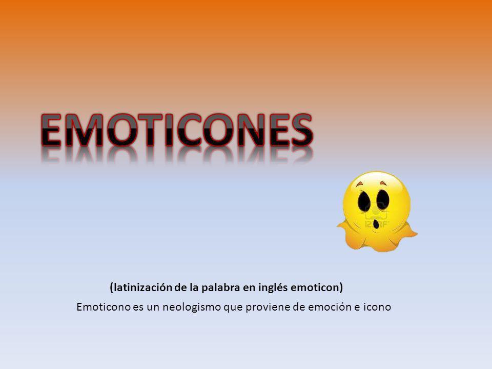 (latinización de la palabra en inglés emoticon)