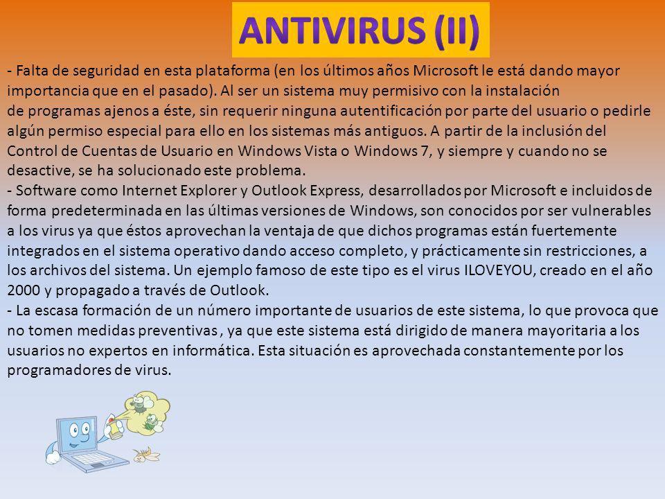ANTIVIRUS (II)