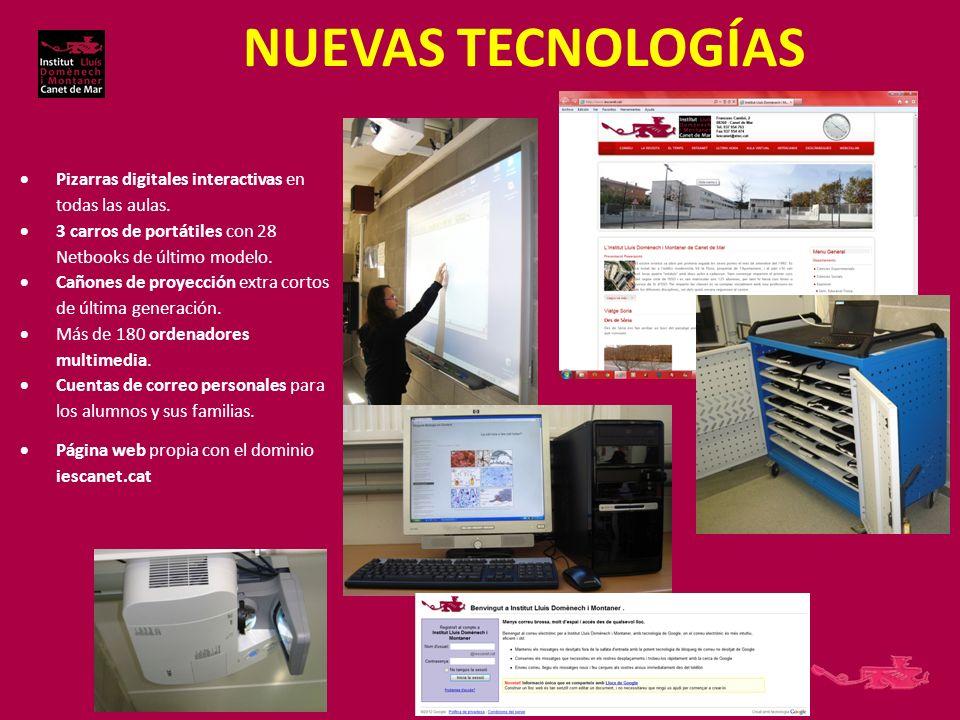 NUEVAS TECNOLOGÍAS Pizarras digitales interactivas en todas las aulas.