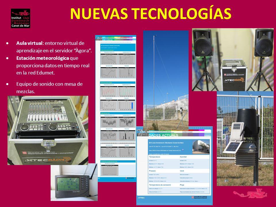 NUEVAS TECNOLOGÍAS Aula virtual: entorno virtual de aprendizaje en el servidor Àgora .