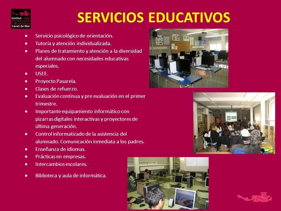 SERVICIOS EDUCATIVOS Servicio psicológico de orientación.