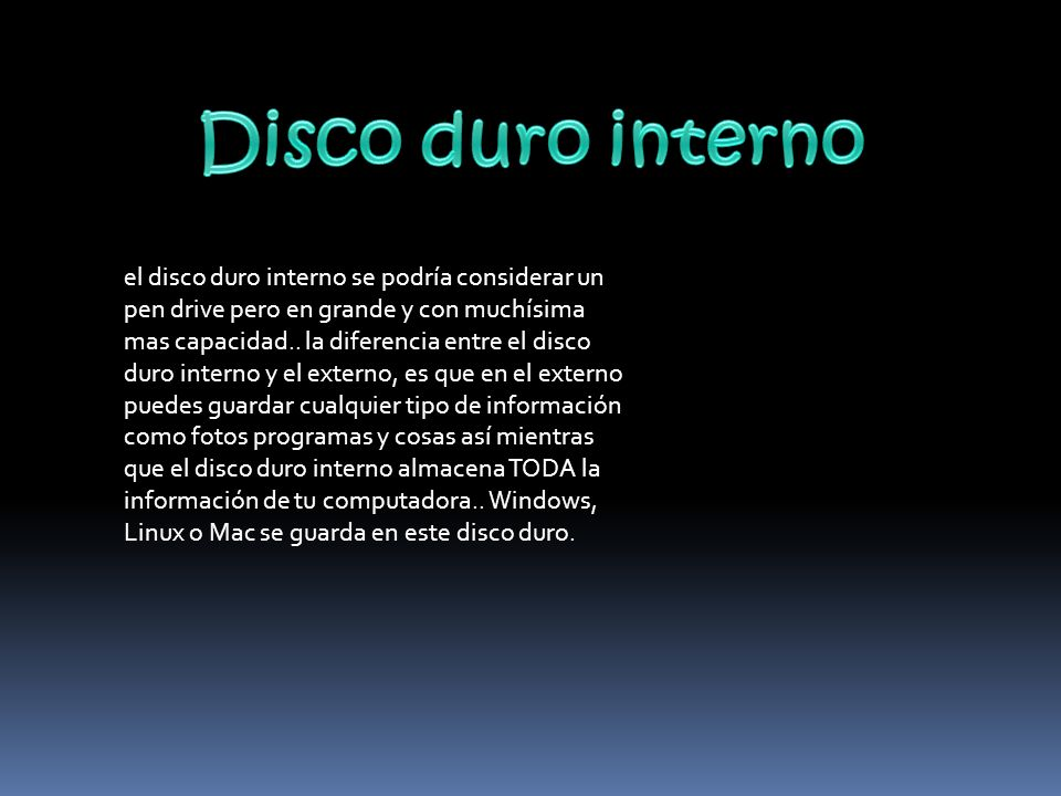 Disco duro interno