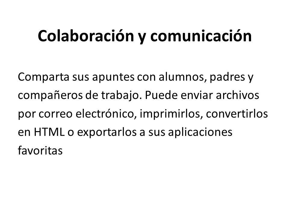 Colaboración y comunicación