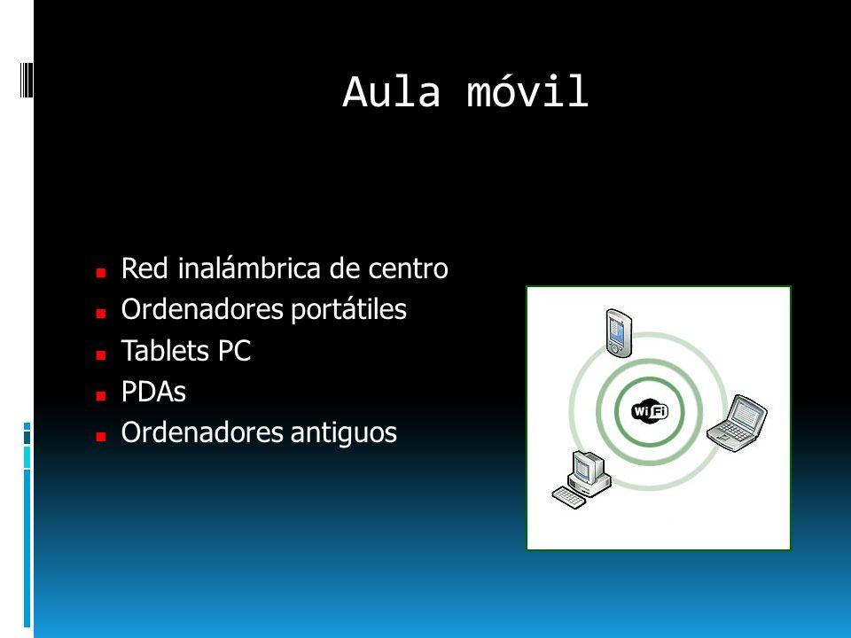 Aula móvil Red inalámbrica de centro Ordenadores portátiles Tablets PC