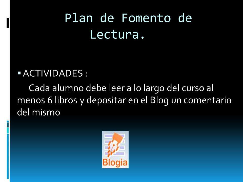 Plan de Fomento de Lectura.