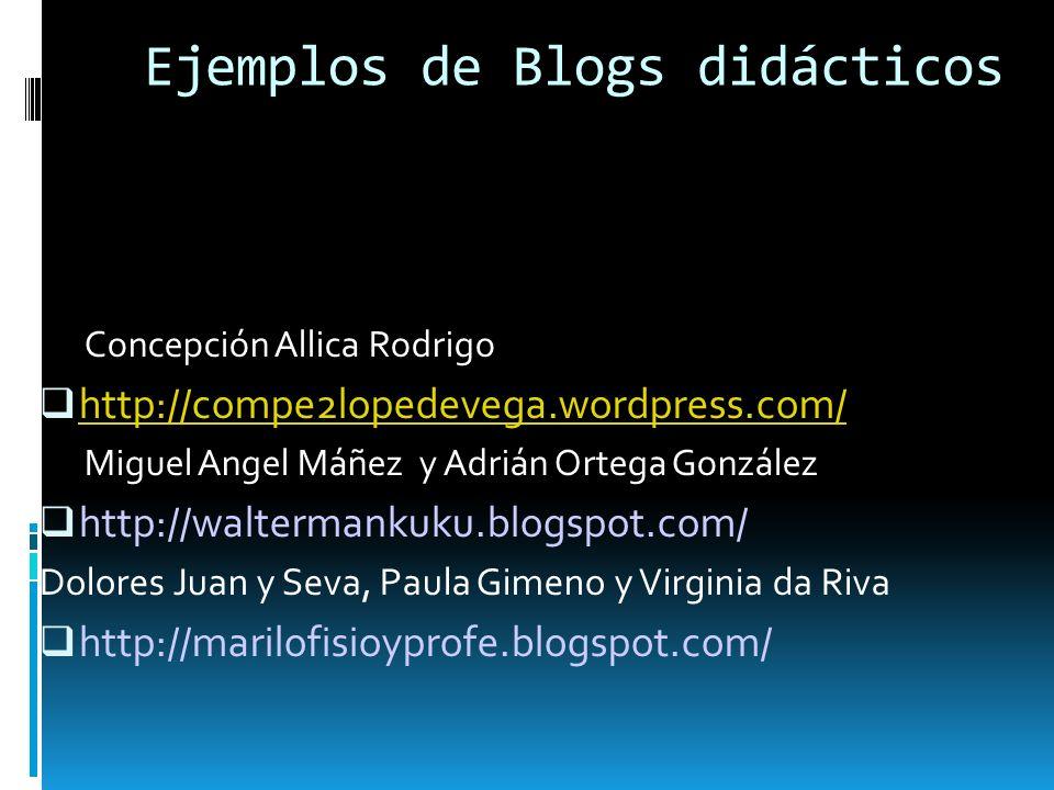 Ejemplos de Blogs didácticos