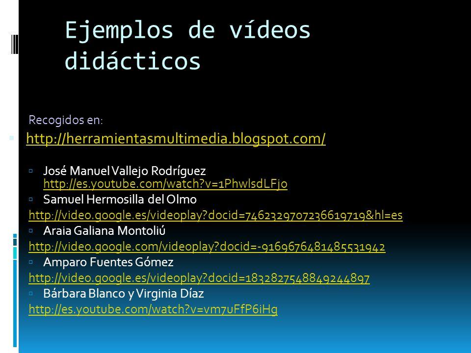 Ejemplos de vídeos didácticos