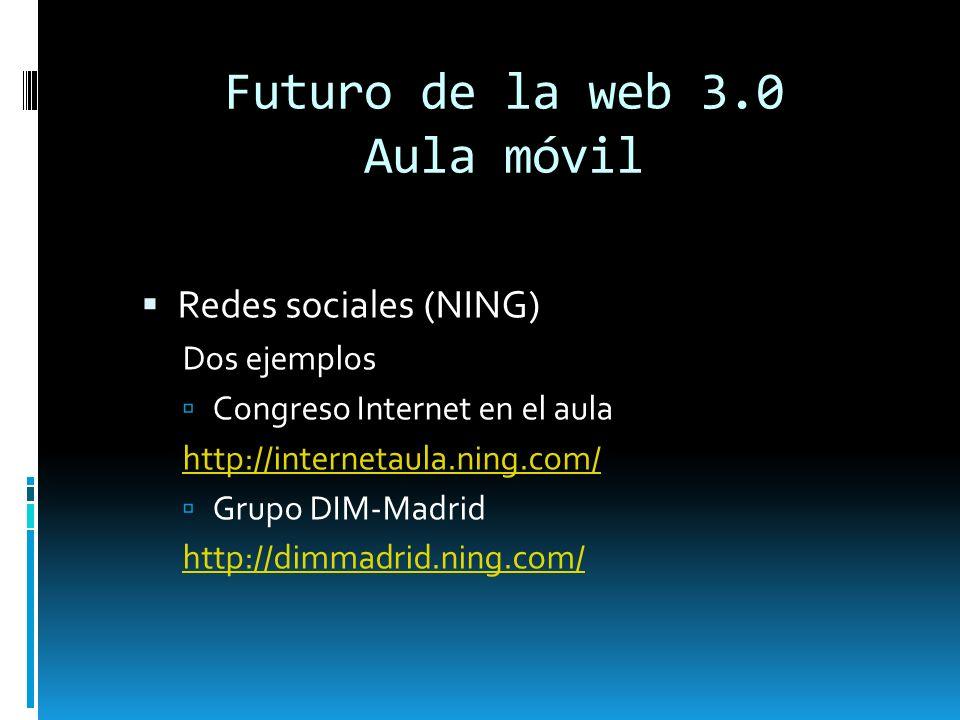 Futuro de la web 3.0 Aula móvil