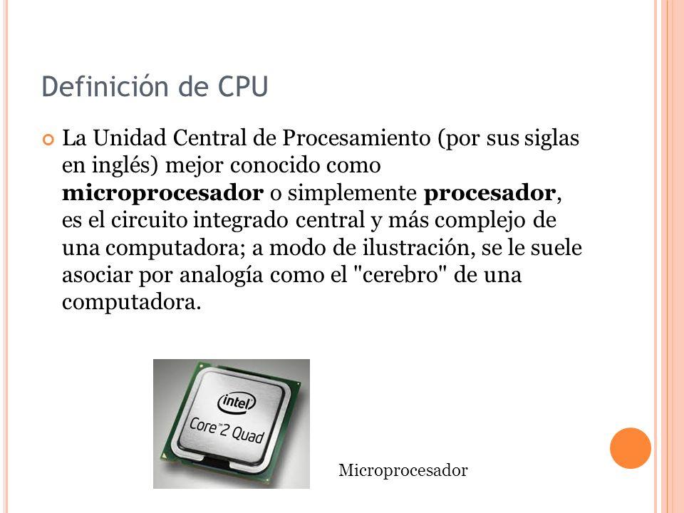Definición de CPU