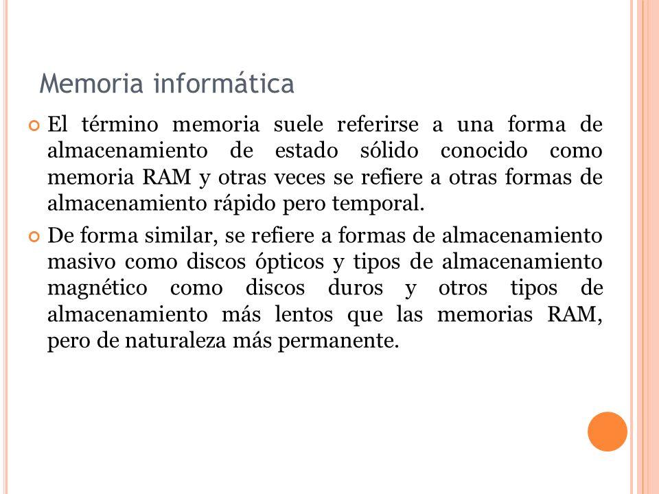 Memoria informática