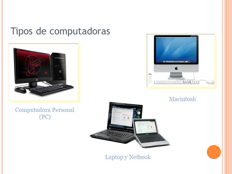 Tipos de computadoras Macintosh Computadora Personal (PC)